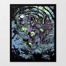 Welcome to the jungle (neon alternate) Canvas Print