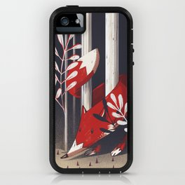 Curious fox iPhone Case
