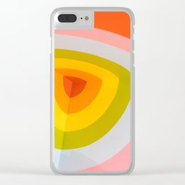 Rainbow Abstract Clear iPhone Case