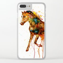 Watercolor Horse Clear iPhone Case