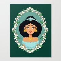 jasmine Canvas Prints featuring Jasmine by Joey Ellson