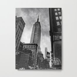 Empire State Building Near Dusk Metal Print