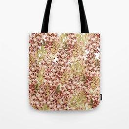 Vintage boho mauve pink dusty green floral Tote Bag