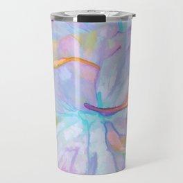 Soft Pastel Painted Petals Abstract Travel Mug