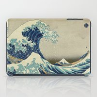 xbox iPad Cases featuring The Great Wave off Kanagawa by Palazzo Art Gallery