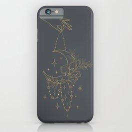 Bohemian Celestial Moon iPhone Case