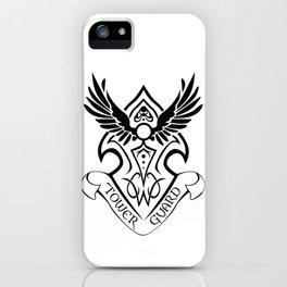 Tower Guard Shield (Black) iPhone Case