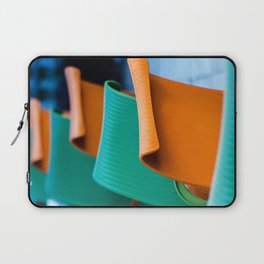 Blue Green and Orange Abstract Laptop Sleeve