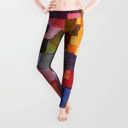 """Paul Klee """"Raumarchitekturen - Auf Kalt-Warm)(Room architectures - On cold-warm))"""" Leggings"""