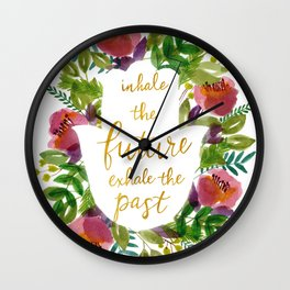 Inhale the Future Wall Clock