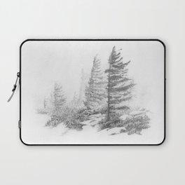 Bear Rocks in Fog Laptop Sleeve