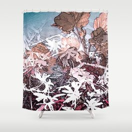 Frosty Transformation to Winter - An abstracted impression Shower Curtain