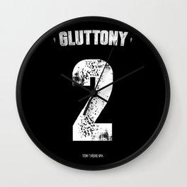 7 Deadly sins - Gluttony Wall Clock
