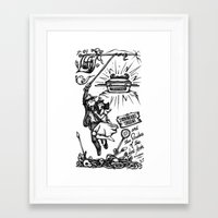 indiana jones Framed Art Prints featuring Indiana Jones by SoNieuf