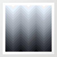herringbone Art Prints featuring Herringbone by Pure