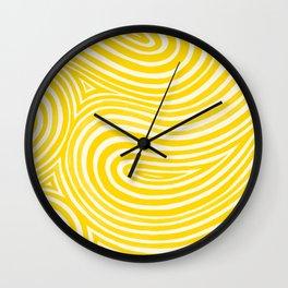 Kaleido in Yellow Wall Clock