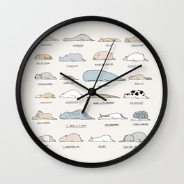 The Moody Animals (Colours) Wall Clock