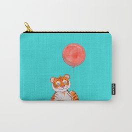 Cute Tiger with Balloon Carry-All Pouch
