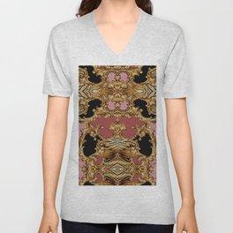 Baroque Inspired Luxury Animal Print design 0014 DECORATIVE EUROPEAN DESIGN Unisex V-Neck