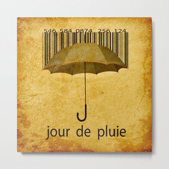 Jour de pluie Metal Print