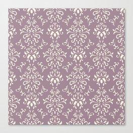 Decorative Pattern in Light Magenta and Cream Canvas Print