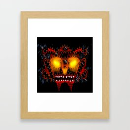 fire demon Framed Art Print