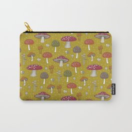 Funghi - Gold Carry-All Pouch