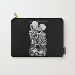 The Lovers Skull Kiss Carry-All Pouch