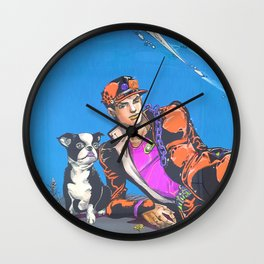 Man With Dog  Wall Clock