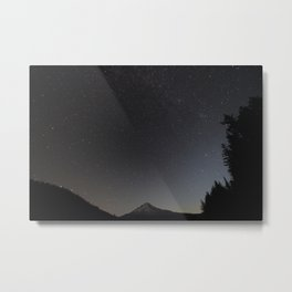 Night Over Mt. Hood Metal Print