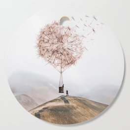 Flying Dandelion Cutting Board