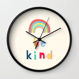 Be Kind Rainbow Wall Clock