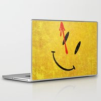 watchmen Laptop & iPad Skins featuring The Watchmen (Super Minimalist series) by Itomi Bhaa