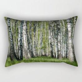 Birch Grove Forest Landscape Rectangular Pillow