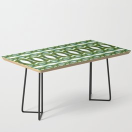 Palm Leaf Kaleidoscope (on white) #2 Coffee Table