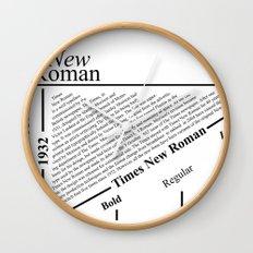The Times New Roman Wall Clock