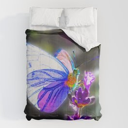 Butterfly on the Lavender Comforters