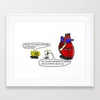 atheist Framed Art Prints featuring Latin Savior by Sleepyjoey