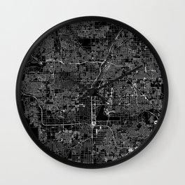 Las Vegas Black Map Wall Clock