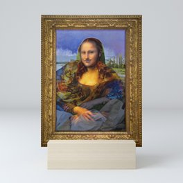 Mona (Kevin) Lisa : Satire + Contemporary Fine Art Mini Art Print