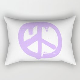 Peace lilac Rectangular Pillow
