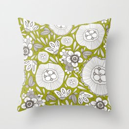 graphically floral pattern Throw Pillow