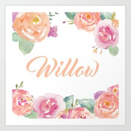Willow Florals  Art Print