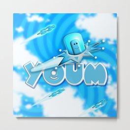 Youm in blue! Metal Print