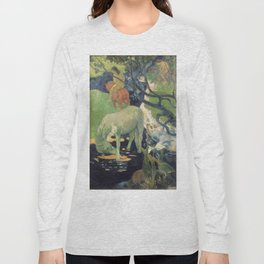 The White Horse by Paul Gauguin Long Sleeve T-shirt