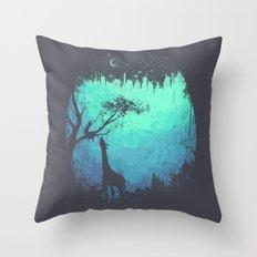 After Cosmic Storm Throw Pillow