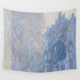 1894-Claude Monet-Rouen Cathedral Façade and Tour d'Albane (Morning Effect)-74 x 106 Wall Tapestry
