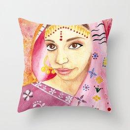 India Bride - Ethnic Art Throw Pillow