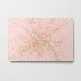 Warsaw map Metal Print