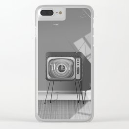 Vintage Black and white cartoon Clear iPhone Case